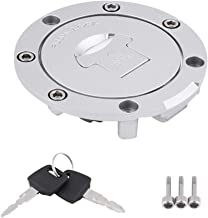 Locking Fuel Cap Tank Cover with Lock and 2 Keys Fit for H-onda CBR600RR 2003-2014 CBR600F4 F4i 2001 2002 2003 2004 2005 2006 EVGATSAUTO Motorcycle Fuel Gas Cap