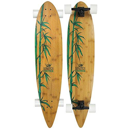 Krown Krex 2 Bamboo Pintail Complete Longboard, 9x43-Inch