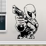 wZUN Héroe Pegatinas de Pared Gun Comics Vinilo decoración del hogar habitación de los niños calcomanías de Dormitorio Mural extraíble 63X84cm