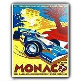 KODY HYDE Metall Poster - Monaco Grand Prix - Vintage
