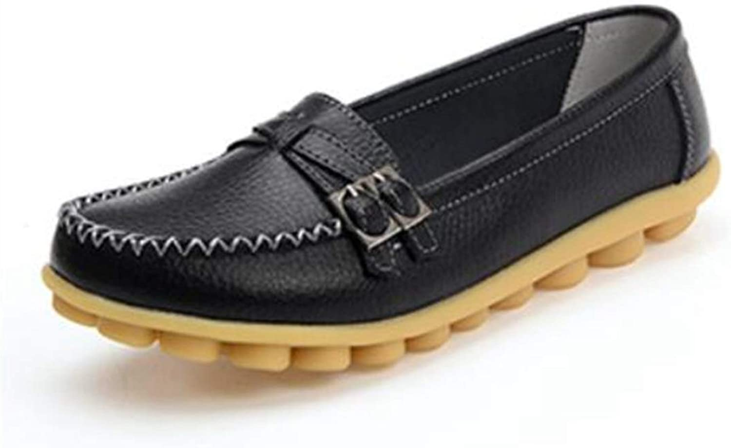 Women Flats, Summer Casual Slip On Buckle Walking Loafers shoes
