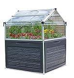 Palram Plant Inn ™ Mini Serre de Jardin - Polycarbonate Transparent – Cadre en Aluminium – Idéal pour Faire Pousser des Herbes Aromatiques - Argent