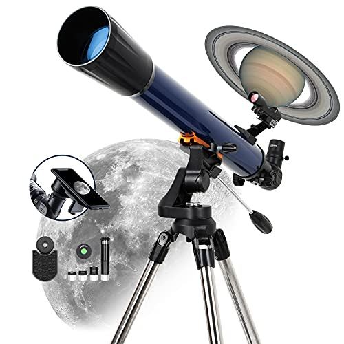 ESSLNB 525X Telescopes for Adults Astronomy with K4/10/20 Eyepieces Red Dot Finderscope 70mm...