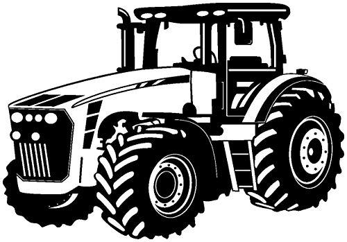 Samunshi® Wandtattoo Trecker Traktor in 8 Größen und 20 Farben (30x21cm schwarz)
