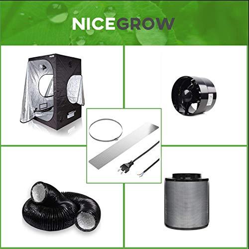 Nice Grow Growzelt Abluft-Set Dark Box 120 BlackOrchid Axial Flo 358cbm/h Aktivkohlefilter