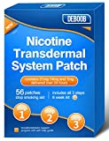 DEBOOB Nicotine Patchto Quit Smoking Aids,56 CountStep 1, Step 2, Step 3Nicotine Patches,All 3 Steps to HelpStop Smoking AidsThat Work