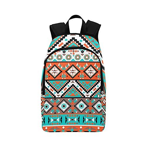 Mochila para Hombres Étnico Tribal Indio Navajo Geométrico Durable Resistente al Agua Clásico Bolso de Viaje para niños Bolso de Mensajero Informal Mujeres Niños Mochila de Viaje M