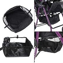 Kinderwagen Bottom Basket Organizer Buggy Shopping Aufbewahrungskoffer Tasche schwarz