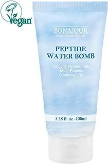 [BONAJOUR] Vegan beauty Peptide Natural Moisturizing Cream for oily and sensitive skin(Water Bomb Oily Skin type), Best Face Moisturizer, Anti Aging, Anti Wrinkle, Brightening 3.38 Fl. oz