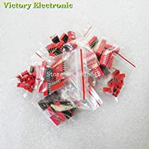 WuLian 70PCS/LOT Dip Switch Kit 1 2 3 4 5 6 8 Way 2.54mm Toggle Switch Red Snap Switches Mixed Kit Each 10PCS Combination Set