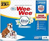 Wee-Wee Puppy Training Pee Pads 100-Count 22' x 23' Standard Size Pads with Febreze