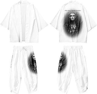 curtain Men's Kimono Cardigan Personalized/Dark Gothic Printed Shirt/Spring Summer Thin Coat/Unisex Casual Jacket/Oversize...
