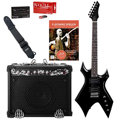 Rocktile Rocktile Pack guitarra eléctrica Warhead/Ripper: Amazon ...