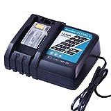 FUNMALL Cargador Rápido de Batería 7A DC18RC DC18RT para Makita Herramientas Cargador de Batería LXT de 14,4 V-18 V BL1850B BL1850 BL1815 BL1820 BL1830 BL1840 BL1430 BL1415