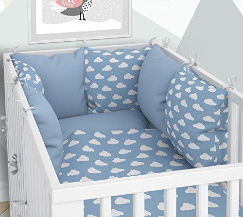 Kissen-Nestchen - Sechs Kissen samt Bezügen für das Babybett 60 x 120 cm