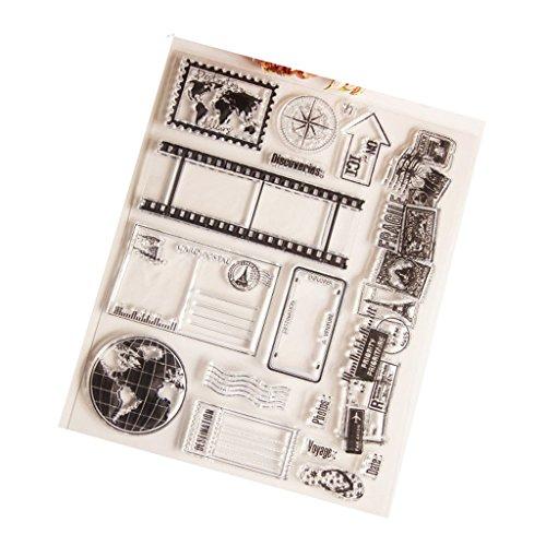 Cuigu Silikon-Stempel mit Kugel-Motiv, groß, Gummi-Stempel, Dekoration für Scrapbooking