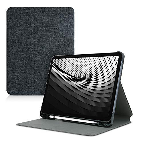 kwmobile Hülle kompatibel mit Apple iPad Air 4 (2020) - Slim Tablet Cover Case Schutzhülle mit Ständer Dunkelgrau