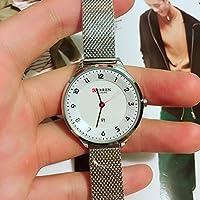 QTMIAO 美しいドレスウォッチ時計 CURREN9035レディースクォーツウォッチダイアルレディースウォッチ (Color : 1)