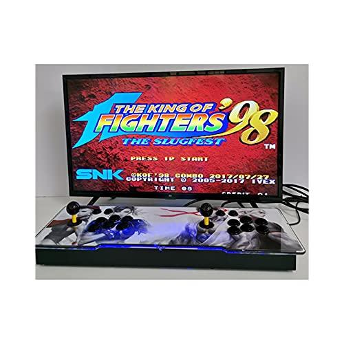 Home Arcade Moonlight Treasure Box 3400 Consola De Juegos De Lucha Casera Delgada Doble, Salida De Audio Hdmi/Vga/USB/Aux, 64X24X13Cm