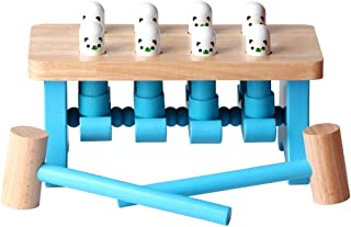 Ranoff Bench Wooden Toy with Mallet hammering Block Punch and Drop Instruments