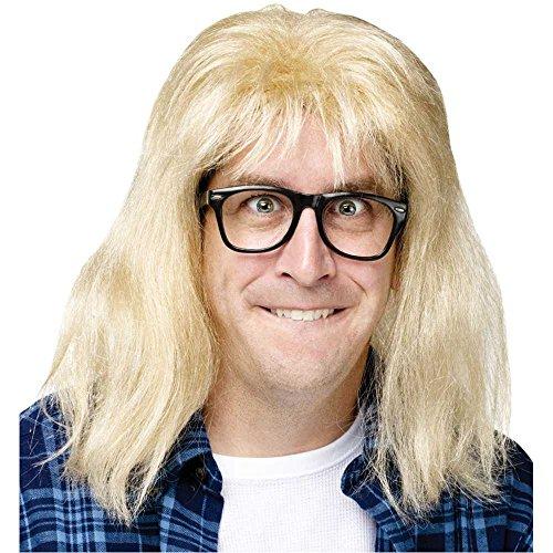 Garth Wig and Glasses Costume Accessory