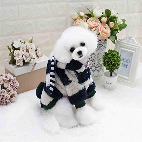 LMNZM Traje de Halloween del perro casero, Navidad para mascotas ropa de lana, mono del vestido de lujo, traje con capucha suéteres capa del conejo de la forma de la Pequeña y perro grande,Gris,XL