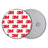 ECENCE Supporto Magnetico per rilevatore di Fumo - Holder Autoadesivo per rilevatore Fumo e in-cendi da Ø 70mm - Supporto Adesivo Magnetico per rilevatori di Fumo - 5 Pezzi 45020108005