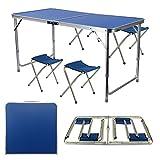 Allright, table pliante portable avec 4chaises pour le camping pique-nique, salle...