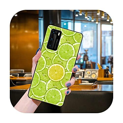 Funda del teléfono para Huawei P40 P30 P10 P20 Lite P Smart Z 2019 Pro negro cubierta Etui moda Conchas deliciosa fruta con apetito-Y1-Huawei P Smart