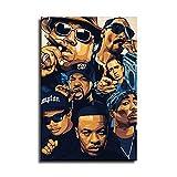 Tupac Biggie Snoop Dogg Poster auf Leinwand Art Poster und