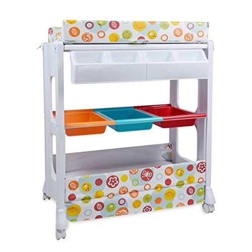 ALUK- Bébé Table à Langer/Multifonction en Plastique Nursing Desk bébé Massage Touch Bed Apporter Baignoire Baignoire Douche Stand Table de Finition adapté pour 0~2 Ans bébé Poids 30 kg