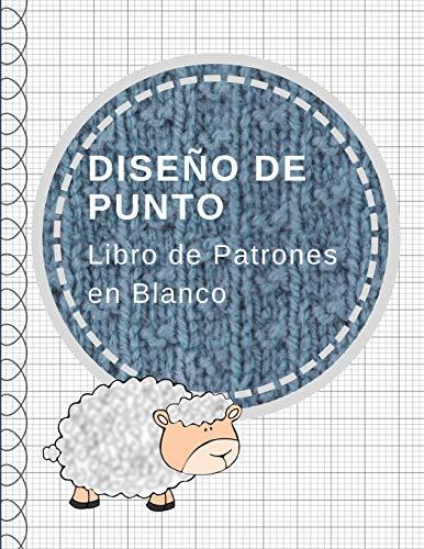 Diseño de punto: Cuaderno de papel cuadriculado, libro de patrones en blanco, relación 2:3