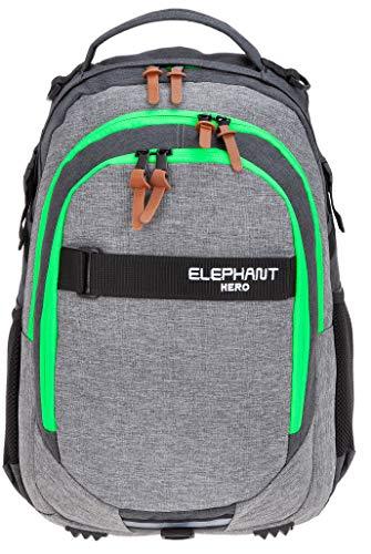 ELEPHANT Schulrucksack Hero Signature Rucksack (Two Tone Green (grau/grün))