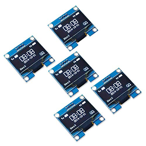Amazon.com - 5PIECES 128x64 0.96 inch OLED Display Module For Arduino I2C communication