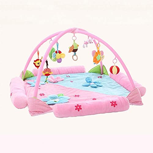 HaoLiao Babymatte, überGröße, supersichere Musikspielunterlage, Babyspieldecke, Baby-Krabbeldecke, Fitnessst er, Lernspielzeug für Kinder,Rosa