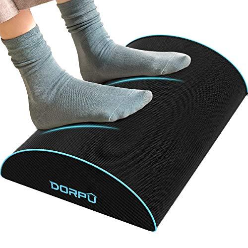 DORPU Foot Rest, Ergonomic Under Desk Footrest Firm Support Memory Foam Desk Foot Rest Relax Feet for Knee Back Pain(Semicircle Shape)
