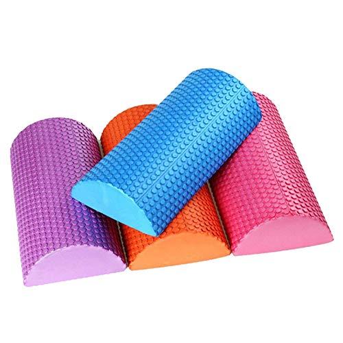 Kunyun Columna de Yoga de Balance de Roller de Espuma semicircular EVA Solid Fitness Almohada Pilates Bar 30cm (Color : Negro, Talla : 45cm)