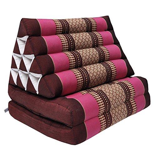 wifash Cojín triangulo Tai, con colchoneta Plegable 2 Pliegues, Fabricado en Tailandia (81402)