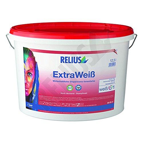 Relius ExtraWeis Leistungsstarke Dispersions-Innenfarbe Stumpfmatt 10 Liter