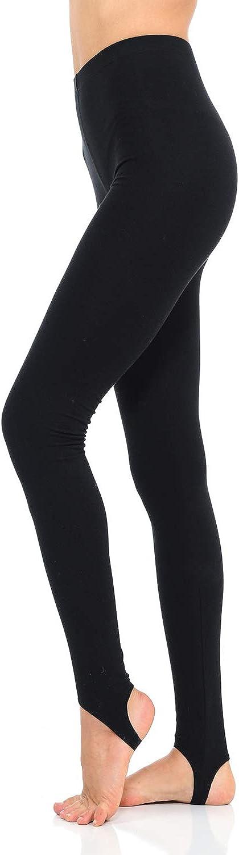 JJJ Women's Solid High quality Max 59% OFF new Cotton Spandex Leggings Stirrup Jersey