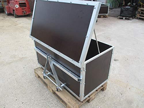 Heckcontainer/Transportbehälter für Hydraulik Kat 1+2 NEU mit Deckel Schlepper