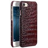 Apple Iphone 7 MelkcoミニPUレザースナップカバー、手作りの良い保護、プレミアムフィール - ダークレッドクロコダイルパターンPU