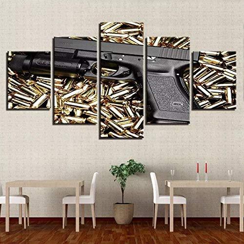 5 Piezas Cuadro de Lienzo - Modelo de Juguetes Pintura 5 Impresiones de imágenes Decoración de Pared para el hogar Pinturas y Carteles de Arte HD 200cmx100cm Sin Marco