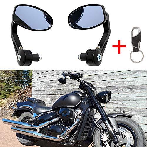 1 par Espejos retrovisores de la motocicleta de Espejo lateral universal de la barra del manillar de 7/8 22MM negro para la vespa