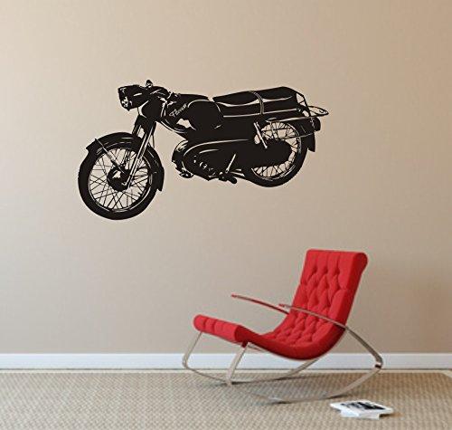 Wandtattoo KREIDLER FLORETT - Motorrad - KULT - Moped // verschiedenen Farben und Größen (1000 mm x 600 mm, Schwarz)