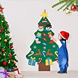 AFASOES Arboles de Navidad de Fieltro para Pared 94 cm con 25 Adornos Arbol Navidad Fieltro 3D Pino de Fieltro Navideños Arbol Navidad Fieltro DIY para Niños Manualidades + Una Cuerda para Colgar