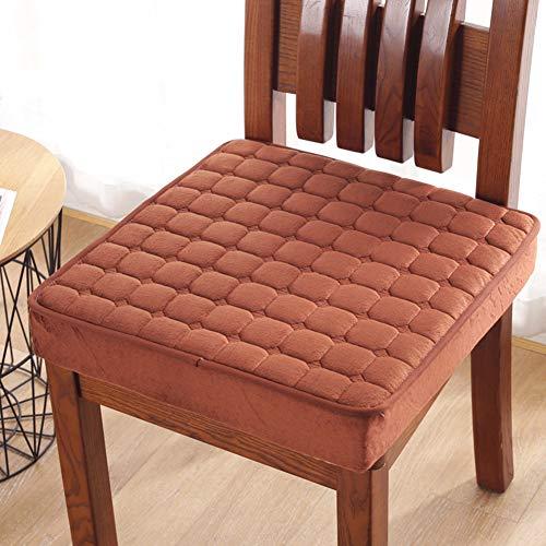 Cómodos cojines de asiento con cremallera suave para silla, cojín de piso grueso, sillón para silla de oficina, cojín de playa, jardín, balcón, funda extraíble, Rojo, 50*50*5cm