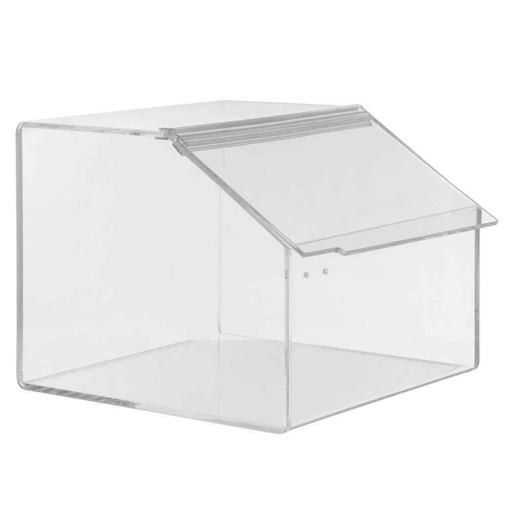 Hubert Rectangular Clear Acrylic Bulk Food Storage Container - 12