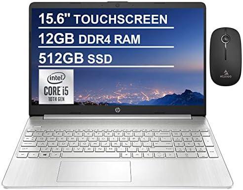 2021 HP Pavilion 15.6 Inch FHD 1080P Touchscreen Laptop, Intel Core i5-1035G1 (Beats i7-7500U), 12GB DDR4 RAM, 512GB SSD, Bluetooth, Webcam, Win10, Silver + NexiGo Bundle WeeklyReviewer