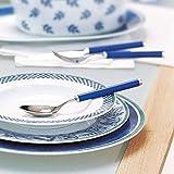 Villeroy und Boch Play Blue Ocean Tafelbesteck, für bis zu 6 Personen, 30-teilig, Edelstahl, Griff aus blauem Kunststoff - 3